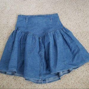 Vintage 80s JW denim skirt